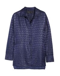 Elizabeth and James | Blue Paris Popover Metallicjacquard Blouse | Lyst