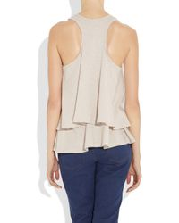 Elizabeth and James - Gray Frances Lace Up Top - Lyst