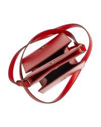 Jil Sander - Red Leather Shoulder Bag - Lyst