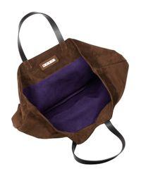Marni - Purple Reversible Suede Tote - Lyst