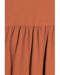 Miu Miu - Orange Ruched Crepe Blouse - Lyst
