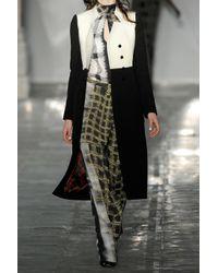 Peter Pilotto | Black Serge Wool-blend Coat | Lyst