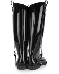 Ralph Lauren Collection - Black Odette Rubber Rain Boot - Lyst