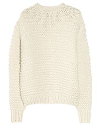 Stella McCartney | White Oversized Alpaca-blend Sweater | Lyst