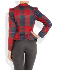 Vivienne Westwood Anglomania | Red Wool Tartan Blazer | Lyst