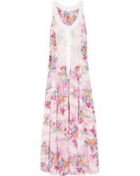 Zimmermann | Pink Hawaiian Printed Cotton Maxi Dress | Lyst