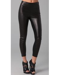 David Lerner | Black Leather Leggings | Lyst