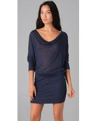 Lanston | Blue Drape Mini Dress | Lyst