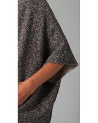 Madewell | Gray Smokeshadow Sweatshirt Poncho | Lyst