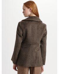 Marc By Marc Jacobs | Brown Jet Set Alpaca Jacket | Lyst