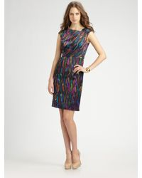 MILLY - Multicolor Cate Sheath Dress - Lyst