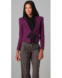 Robert Rodriguez | Purple Short Bow Jacket | Lyst