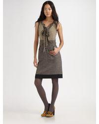 Tory Burch | Gray Roderick Layered-look Dress | Lyst