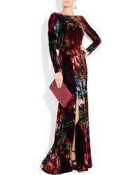 Erdem - Multicolor Daniella Printed Velvet Gown - Lyst
