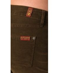 7 For All Mankind - Brown Jiselle Corduroy Flare - Lyst