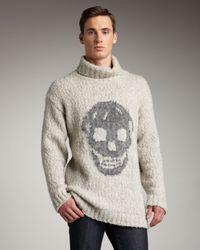 Alexander McQueen Natural Intarsia-skull Sweater for men