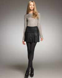 Burberry Brit Black Pleated Leather Skirt