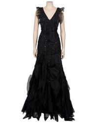 Carolina Herrera | Black Scattered Crystal Gown | Lyst