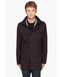 G-Star RAW - Black Fleet Garber Trench Coat for Men - Lyst