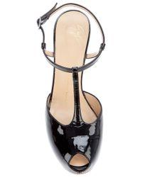 Giuseppe Zanotti | Black Peep Toe T-bar Sandal | Lyst