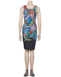 Jonathan Saunders   Multicolor Fitted Bird Print Tank Dress   Lyst