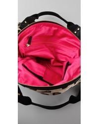 Juicy Couture - Multicolor Leopard Velour Stroller Bag in Heather Croissant - Lyst