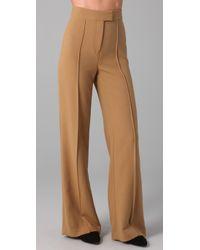 L.A.M.B. | Brown High Waist Wide Leg Pants | Lyst