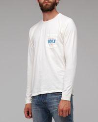Lightning Bolt - White Bolt Pocket Tee for Men - Lyst