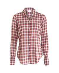 Nili Lotan - Plaid Shirt - Red - Lyst