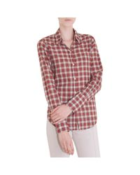 Nili Lotan - Plaid Shirt - Red - Lyst