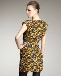 Parker - Yellow Printed Dress - Lyst
