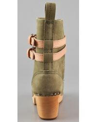 Swedish Hasbeens - Green Combat Boot in Black/nature - Lyst