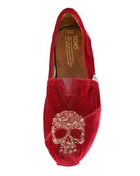 TOMS | Red Beaumont Skull Slip-on for Men | Lyst