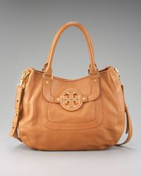 Tory Burch | Brown Amanda Hobo | Lyst