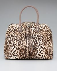 Valentino | Natural Rockstud Animal-print Dome Bag | Lyst