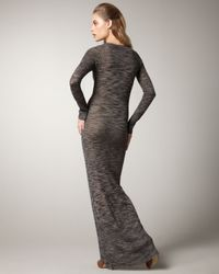 A.L.C.   Brown Long Sweater-dress   Lyst