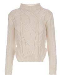Carven | Beige Knitted Jumper | Lyst