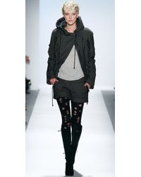 Charlotte Ronson | Black Hooded Army Jacket | Lyst