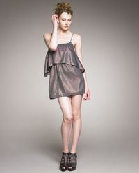 Elizabeth and James | Brenna Metallic Dress | Lyst