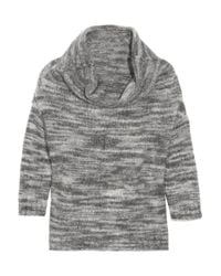 Lela Rose | Gray Cowl-neck Knitted Marl Sweater | Lyst