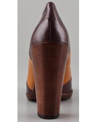 Marc By Marc Jacobs - Brown Wingtip High Heel Oxfords - Lyst