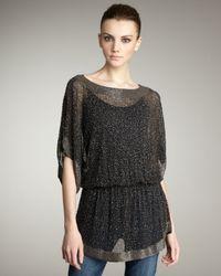 Parker | Black Embellished Asymmetric Raglan Sleeve Top | Lyst