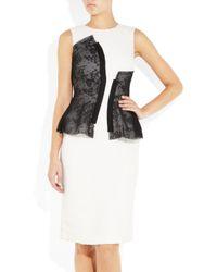 Prabal Gurung - Black Textured Woolcloquã and Lace Dress - Lyst