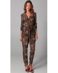 Rebecca Minkoff | Multicolor Siri Leopard Print Jumpsuit | Lyst