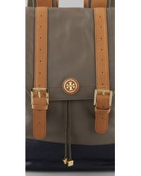 Tory Burch | Gray Pierson Canvas Backpack | Lyst