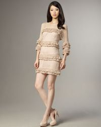 Tracy Reese | Natural Beaded-fringe Shift Dress | Lyst