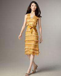 Tracy Reese | Yellow Sequined Fringe Dress | Lyst