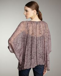 Winter Kate - Purple Tiger Lily Blouse in Plum/black - Lyst