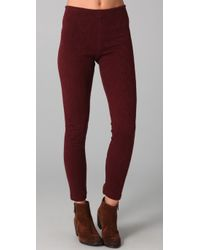 Free People | Purple The Cable Knit Legging in Burgundy | Lyst
