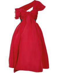 Prabal Gurung | Red Draped Silk-faille Dress | Lyst